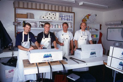 Dock Crew in Aprons