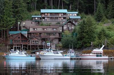 Lodge, Dock, and Boats
